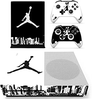 L'Amazo Best Sport American football basketball baseball style XBOX ONE SLIM Skin Designer Game Console System p 2 Controller Decal Vinyl Protective Covers Stickers for XBOX ONE S (Street Air)