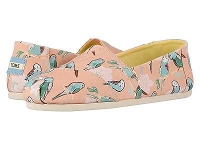 TOMS Alpargata (Coral Pink Kissy Birds) Women
