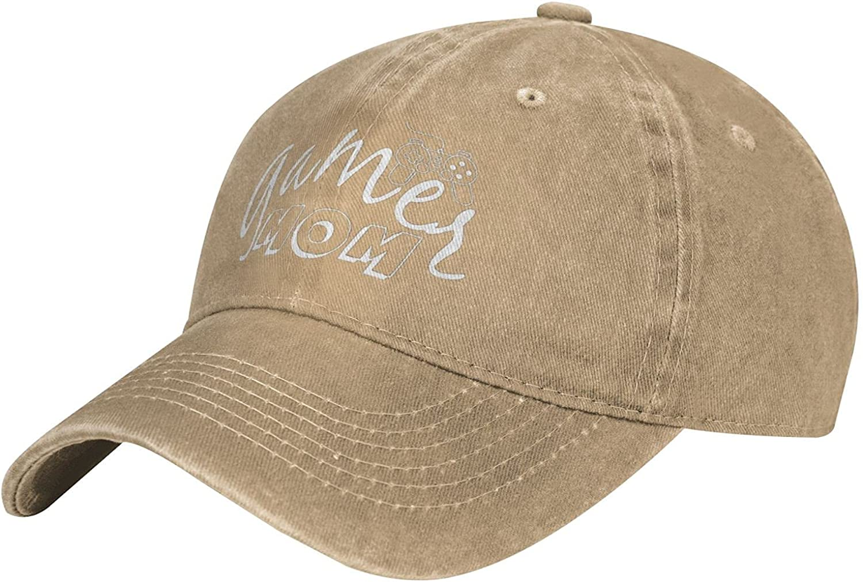 BEABA Gamer Mom Baseball Cap, Adjustable Cowboy Hat Mens Womens Dad Hats-Natural