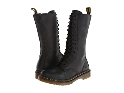 Dr. Martens 1B99 14-Eye Zip Boot (Black Virginia) Women