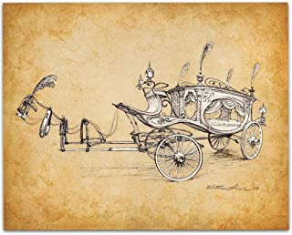 Haunted Mansion Movie Hearse Concept Drawing - 11x14 Unframed Patent Print - Great Gift for Disney Fans Under $15