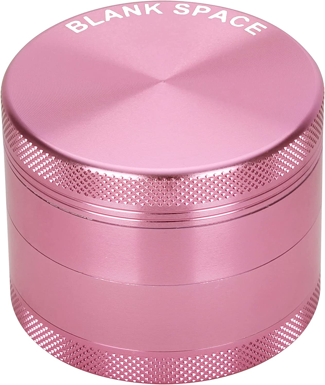 BLANKSPACE Herb Grinder 2 Inch 4 Piece Aluminum Grinder Set (Pink)……