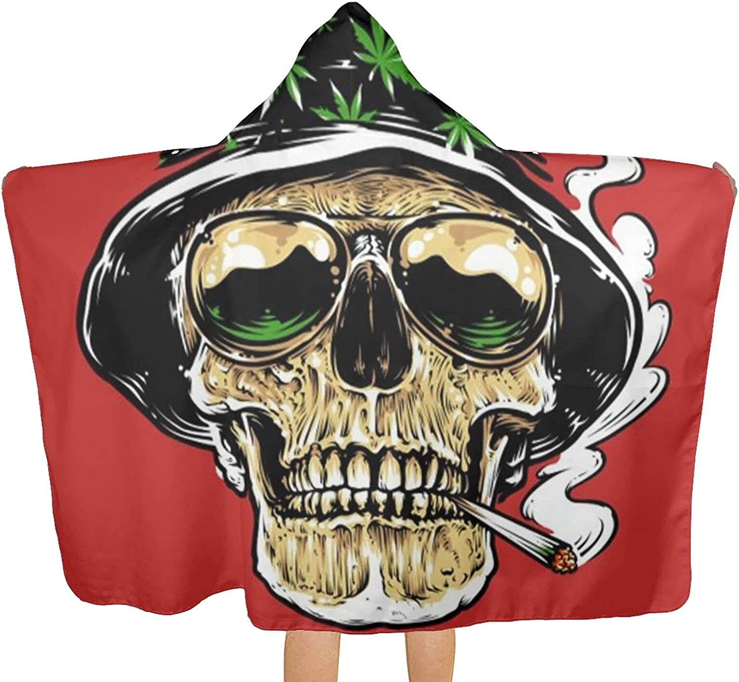 MESCCHSK Cool Skull Smoking Printed Beach Bath Towel 2021 SEAL limited product Hood T with