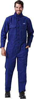 Mufly Mens Flame Resistant Coveralls,Long-Sleeve Welding Coat Safety Apparel,CE Certificate