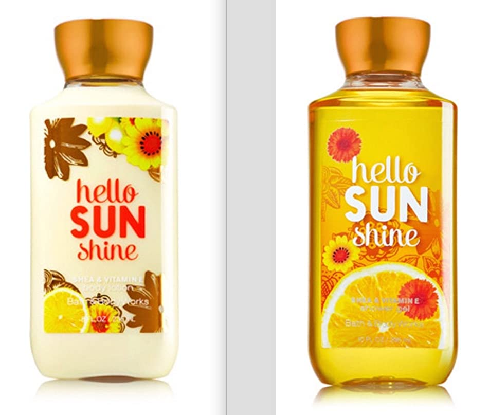 Bath and Body Works Hello SUN Shine Lotion and Shower Gel Set