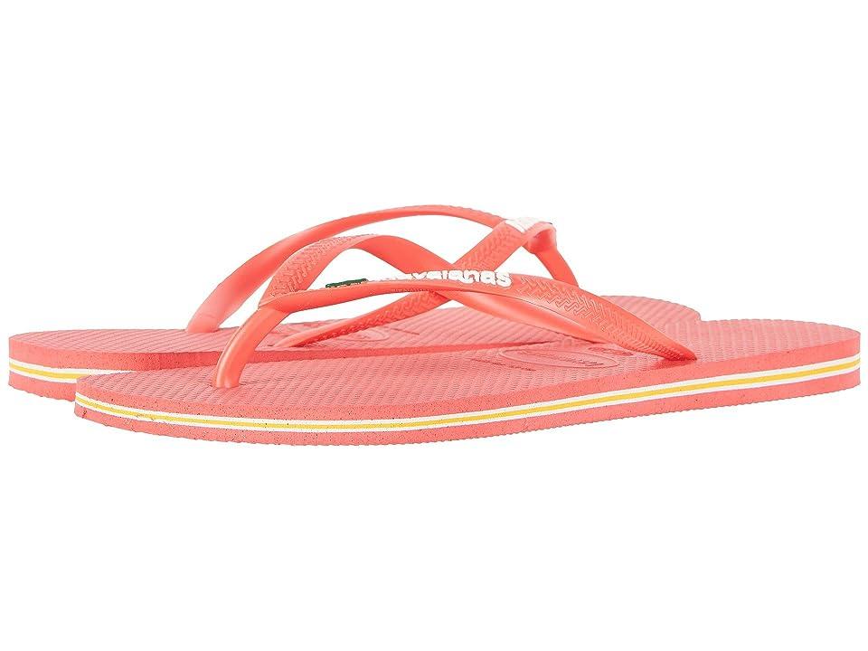 Havaianas Slim Brazil Flip-Flops (Coral) Women
