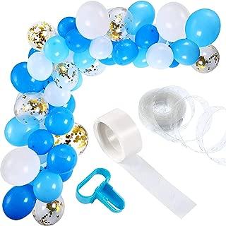 Maojuee Kit de Guirnalda de Globos de 113 Piezas Guirnalda de Arco de Látex Globos para Decoración de Boda Cumpleaños Fiesta Aniversario Graduación Centro Decoración de Fondo (Azul)