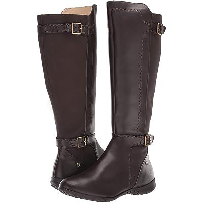 Hush Puppies Bria Tall Boot (Dark Brown PU) Women