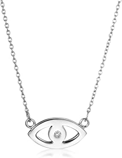 Evil Eye Pendant Necklace | 925 Sterling Silver