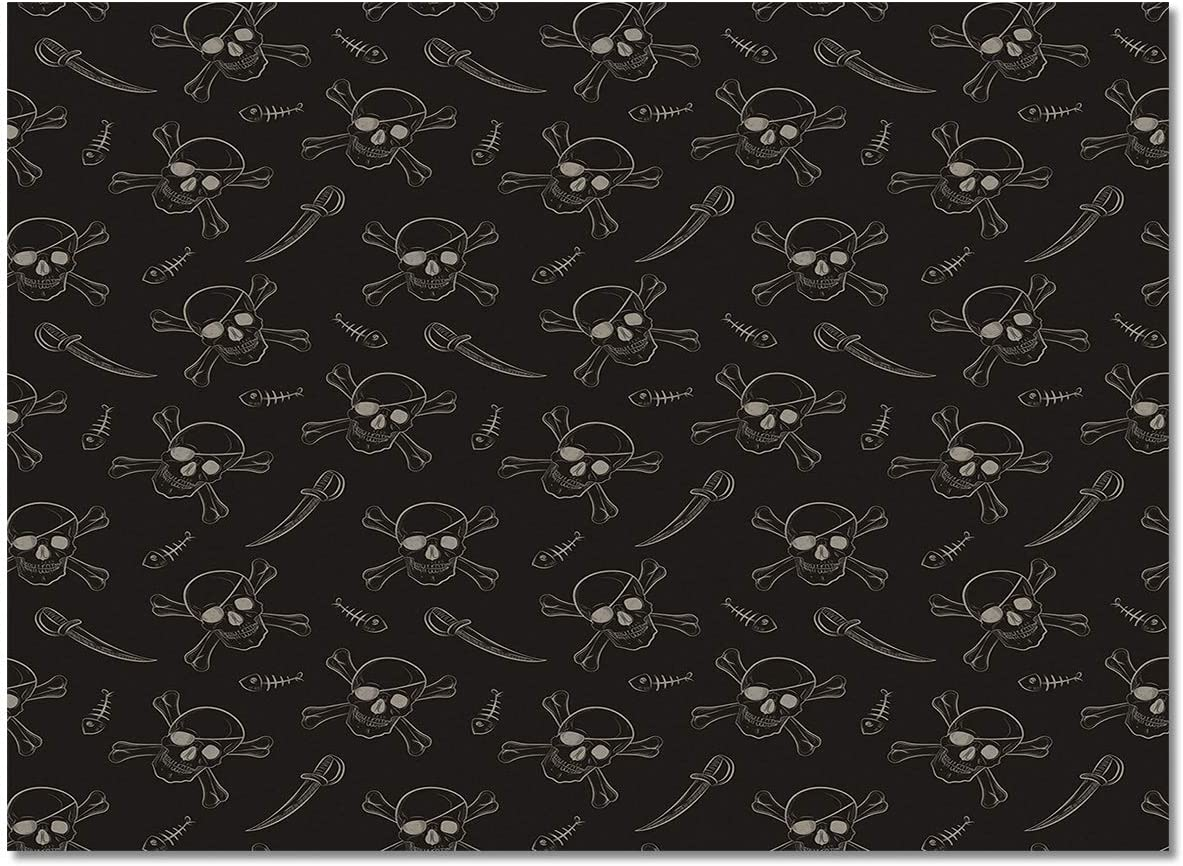 Area Jacksonville Mall Rugs Super Soft Felt Carpets Max 48% OFF Room for a Skull Living Pirate