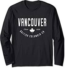 CA Vancouver British Columbia Canadian Maple Leaf   Long Sleeve T-Shirt