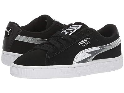 Puma Kids Suede Classic Lightning (Big Kid) (Puma Black/Dark Shadow) Boys Shoes