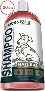 Natural Oatmeal Dog-Shampoo and Conditioner - Medicated Clinical Vet Formula Wash for All Pets Puppy & Cats - Made with Aloe Vera for Relieving Dry Itchy Skin