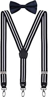 toddler black suspenders and bow tie