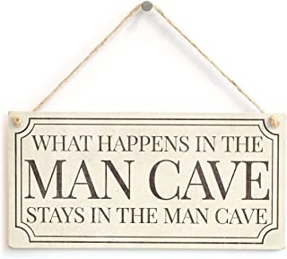 """Meijiafei What Happens in The Man Cave Stays in The Man Cave Home Accessory Gift Sign 10""""x5"""" PVC-1556"""