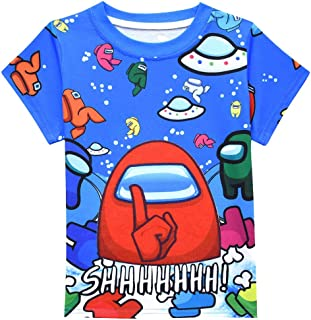 Boys Graphic T-Shirts A-mong Us Kids Casual Tees Short Sleeve Tops