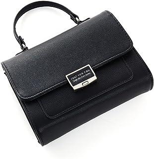 New Women's Shoulder Bag, Wallet, Shoulder-Slung Fashion Multi-Capacity Wallet (Color : Black, Size : S)