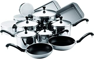 Best farberware classic stainless steel 17-piece cookware set Reviews