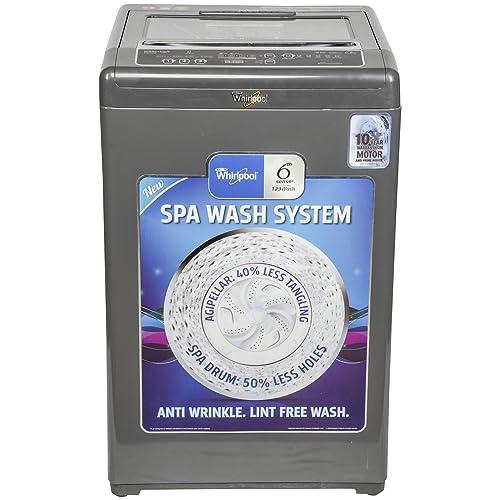 Whirlpool 6.5 kg Fully-Automatic Top Loading Washing Machine (WHITEMAGIC PREMIER 6.5 SD, Grey, Hard Water Wash)