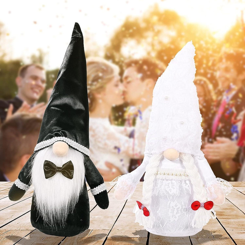 2pcs Wedding Gnome Bride Dress Suits Groom Quality inspection Plush Sale SALE% OFF Face Decoration