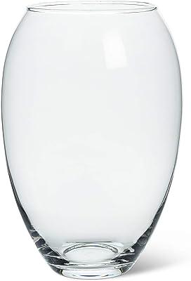 Abbott Collection 400-10561 Jarrón de barril ancho, transparente