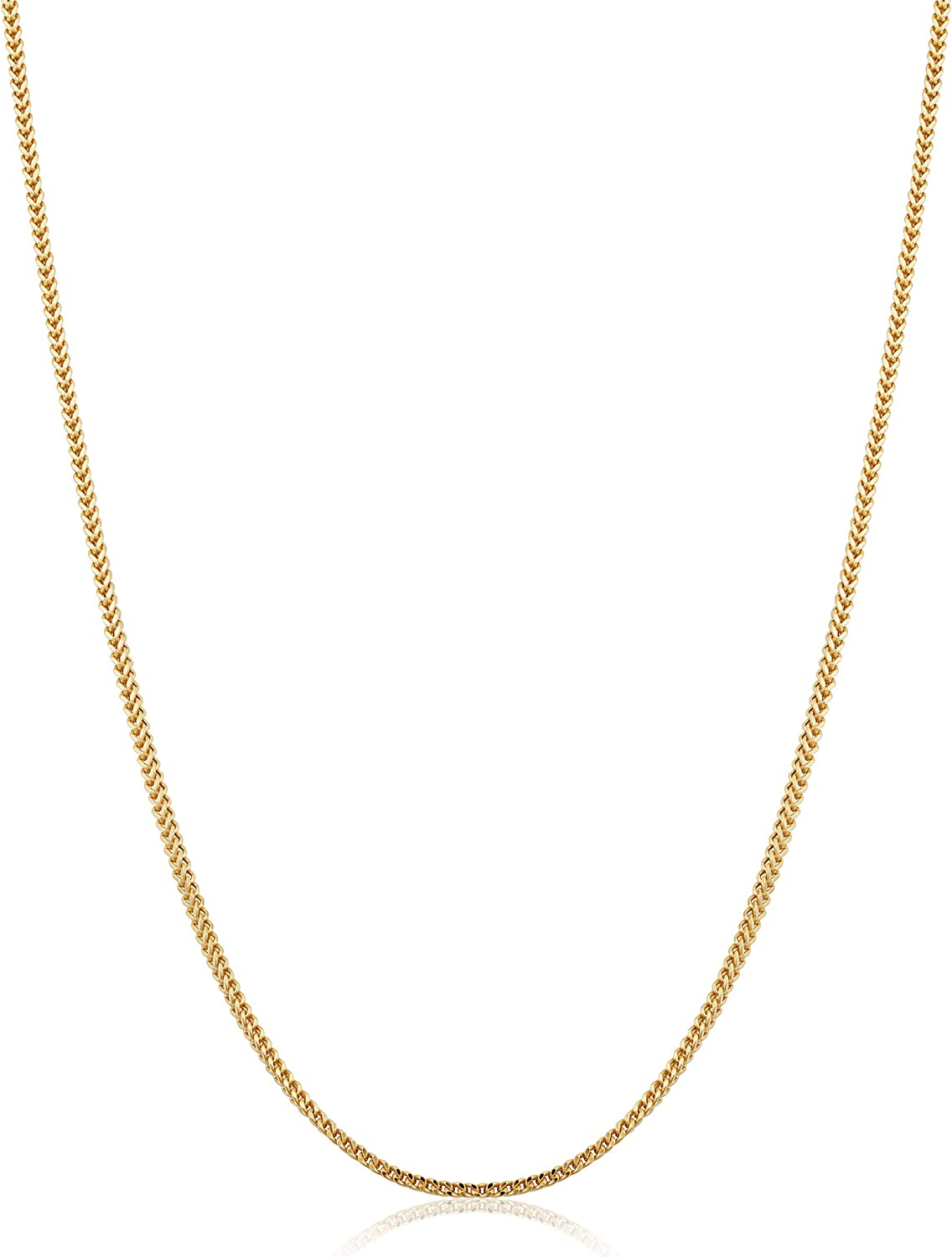 14k Yellow Gold 1.5 mm Franco and Women Latest item Max 44% OFF for Necklace Men Chain