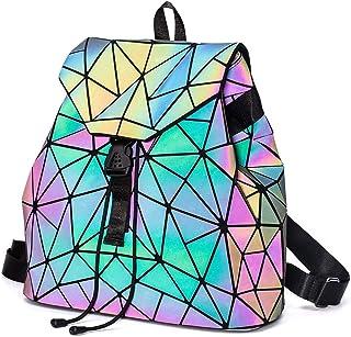 Geometric Backpack Luminous Backpacks Holographic Reflective Bag Lumikay Bags Irredescent Rucksack Rainbow