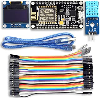 UCTRONICS ESP8266 Weather Station IoT Starter Kit for Arduino IDE with ESP8266 ESP-12E Development Board 0.96