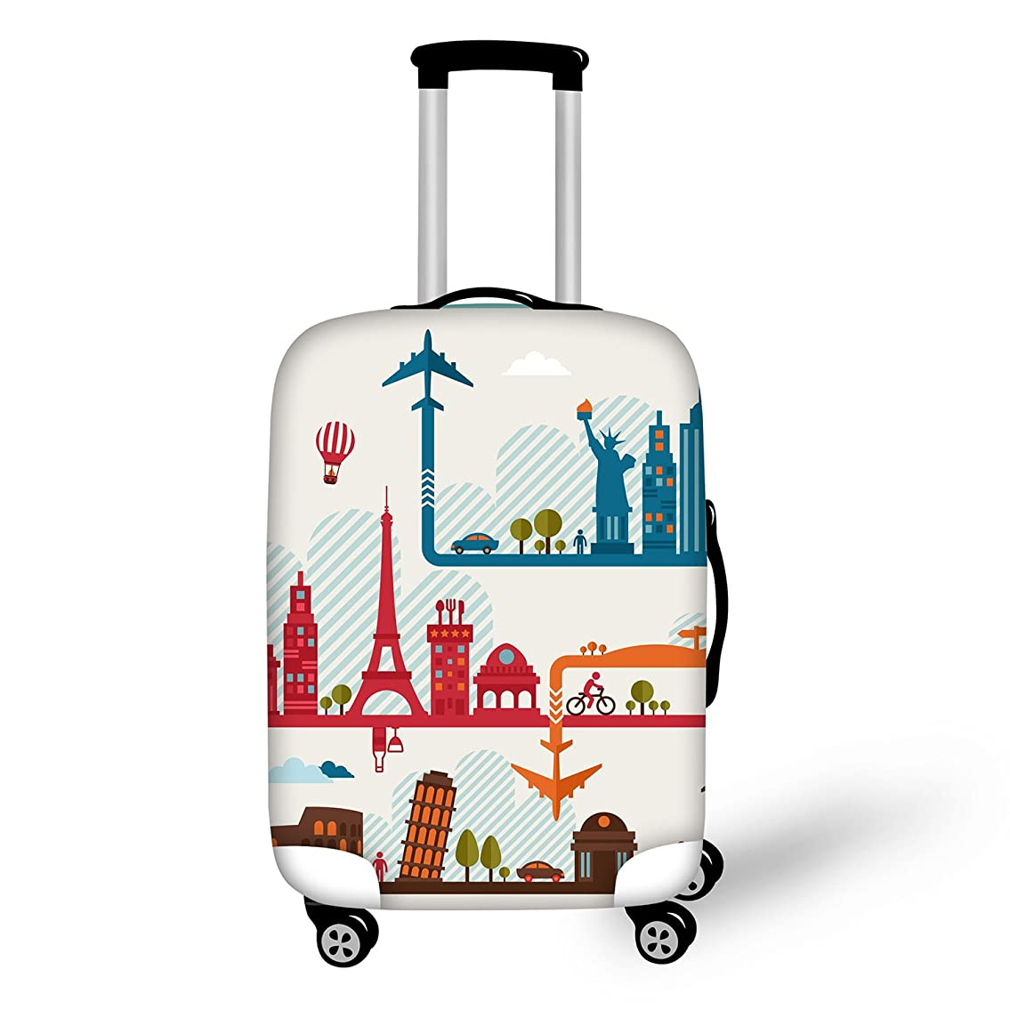 伝染性の雑品清めるThiKin スーツケースカバー おしゃれ 目立つ 洗える 伸縮素材 旅行 弾性設計 防塵 ラゲッジカバー キャリーカバー 人気 suitcase luggage cover S M L サイズ