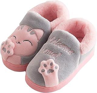 Zapatillas de Estar por Casa para Niños Niñas Invierno Otoño Slippers Casa Interior Caliente Pantuflas Suave Algodón Anima...