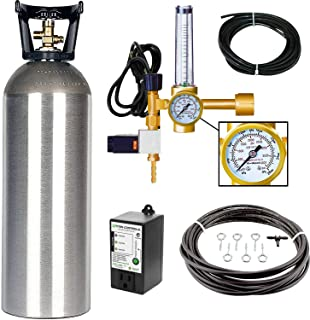 Grow Crew Hydroponic CO2 Enrichment Kit   Includes 20 lb Aluminum CO2 Tank, Carbon Accelerator CO2 Regulator, Atlas 7 CO2 PPM Monitor and Active Air Rain System to Shower Your Plants with CO2