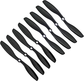 Genuine Gemfan 8045 (8x4.5) Propellers for DJI Phantom by RAYCorp. 8 Pieces(4CW, 4CCW) Black 8-inch Props + RAYCorp Battery Strap