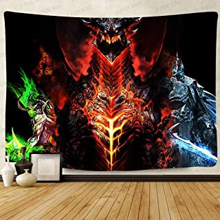 Deathwing Poster Tapestry, Large 80x60inchs Soft Cotton, Video Games Wall Hanging..