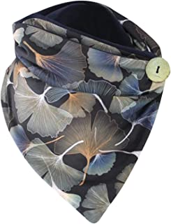catmoew Bufanda de invierno para mujer, abrigo cálido, capa de algodón botón de impresión a la moda, bufanda triangular bu...