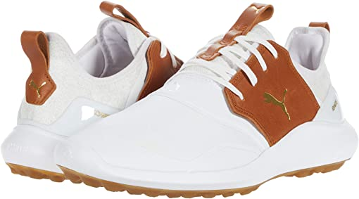 Puma White/Leather Brown/Puma Team Gold