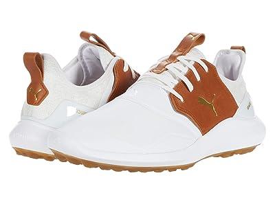 PUMA Golf Ignite Nxt Crafted (Puma White/Leather Brown/Puma Team Gold) Men