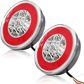 Verre Transparent Moto Feu Arri/ère Stop pour Cafe Racer Brat Style Motos Pointue Forme LED