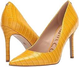 Dijon Yellow Kenya Croco Embossed Leather