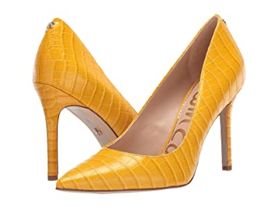 Sam Edelman Hazel (Dijon Yellow Kenya Croco Embossed Leather) Women