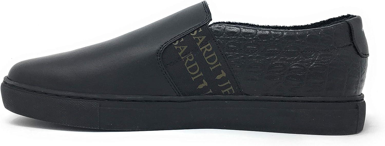 Trussardi Jeans Men's Loafer Flats Black Black