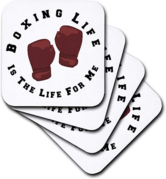 3dRose Carrie Merchant 3drose Quote Image Of Boxing Life Is The Life For Me Set Of 8 Coasters Soft Cst 307310 2