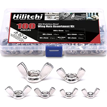 8-Pack The Hillman Group 45048 M7-1.00 Metric Wing Nut