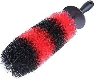 Premium Wheel /Rim Cleaning Brush Long Soft Bristle,Car Wheel Brush,Rim Tire Detail Brush,Multipurpose use For Cleaning Wheels,Rims,Exhaust Tips,Motorcycles,Bicycles, Grills,Engine (CCS-002)