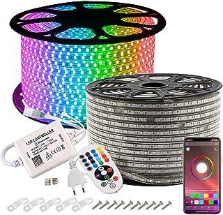 comprar comparacion GreenSun Tiras LED 20M 5050 RGB Tiras de Luces LED, Tira de luces de exterior Control de bluetooth luces decorativas de ex...