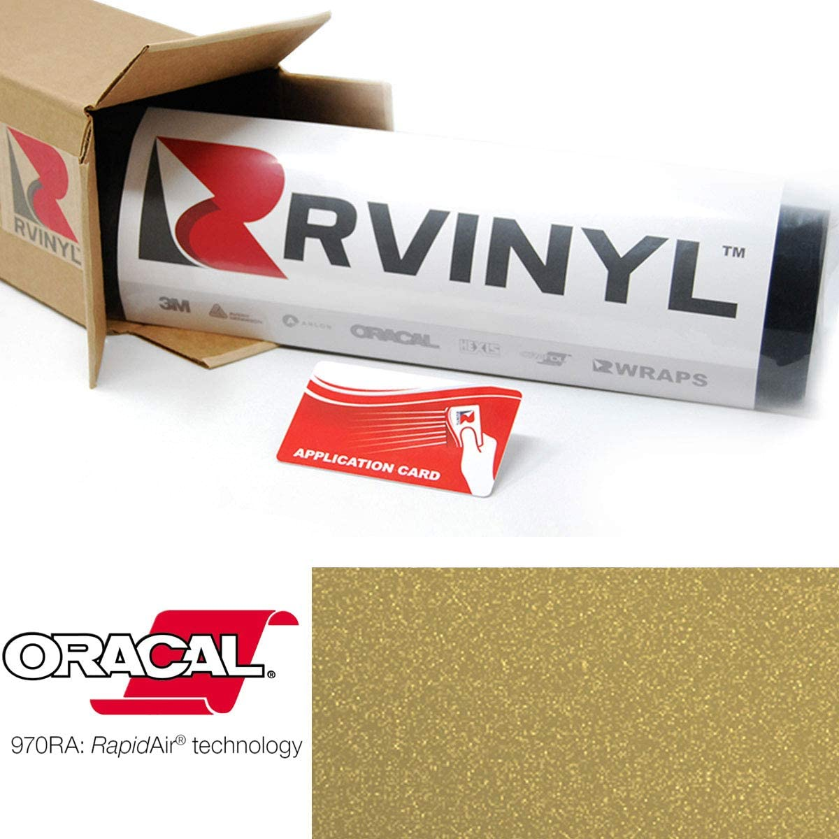 1ft x 5ft w//App Card ORACAL 970RA Matte Metallic Pyrite 926M Wrapping Cast Film Vehicle Car Wrap Vinyl Sheet Roll