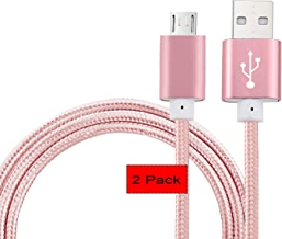 """[2Pack] 5 Ft Replacement Micro USB Cable,CaseHQ Data USB Cord for Amazon Kindle, Kindle Touch, Kindle Fire, Kindle Keyboard, Kindle DX, HD, HDX,8.9"""", Kindle Paperwhite,Voyage,Echo Dot.etc-Rosegold"""