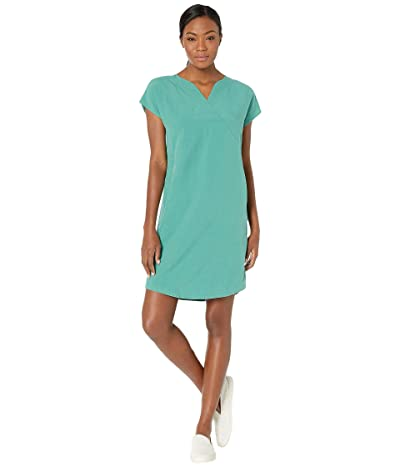 NAU Flaxible Short Sleeve Mod Dress (Jade) Women