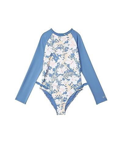 Roxy Kids Swim Lovers One-Piece Swimsuit (Toddler/Little Kids/Big Kids) (Moonlight Blue Team Garden) Girl