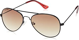 Fastrack Gradient Aviator Unisex Sunglasses - (M139BR1F|Brown & Black)