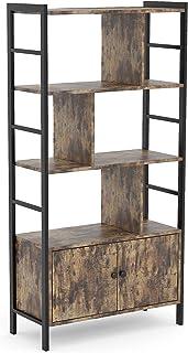 KCRET Estantería Industrial librería con 4 Niveles de estantes Abiertos Altura 140 cm Estructura de Acero Resistente p...